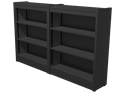 """Picture of CLEARANCE: STM Custom Double Bookcase 42"""" Cinder Gray"""