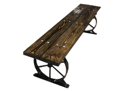 Picture of Wagon Wheel Bench