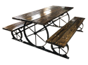 Picture of Wagon Wheel Picnic Table