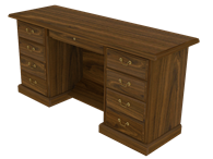 Picture of Heritage Manager's Kneehole Credenza