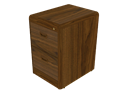 Picture of CLEARANCE: ECL File Cabinet 2 Drawer Walnut