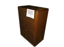 Picture of CLEARANCE: ECL Lat File Cabinet 2 Drawer Mahogany