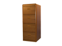 Picture of CLEARANCE: ECL File Cabinet 4 Drawer Mahogany