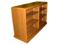 """Picture of CLEARANCE: Mobile Double Faced Bookcase W / Shelving 24"""" X 72"""" X 48"""" Oak"""
