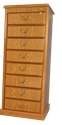 Picture of CLEARANCE: HTG File Cabinet 4 Drawer Mahogany