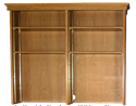 """Picture of CLEARANCE: HTG Mgr Hutch 60"""" BookCase Without Doors Walnut"""