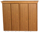 """Picture of CLEARANCE: HTG Mgr Hutch 60"""" BookCase With Doors Mahogany"""