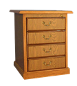 Picture of CLEARANCE: HTG File Cabinet 2 Drawer Mahogany