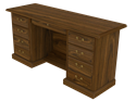 Picture of CLEARANCE: HTG Mgr Knee Cred L-4B R-4B Pencil Drawer Wild Cherry