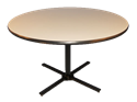 """Picture of CLEARANCE: Single Pedestal Table 36""""W Rnd  Shape Wal"""