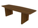 """Picture of CLEARANCE: STM Conference Table 48"""" x 10' (Rectangular Shape) Walnut"""