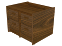 Picture of CLEARANCE: STM File Cabinet 2 x 2 Drawer Side by Side Mahogany