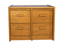 Picture of CLEARANCE: STM File Cabinet 2 x 2 Drawer Side by Side Walnut