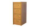 Picture of CLEARANCE: STM File Cabinet 4 Drawer Mahogany